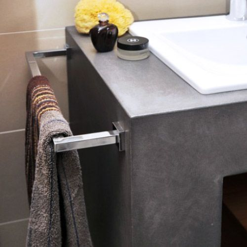 Porte serviette quadra atlantic bain for Meuble serviette salle de bain