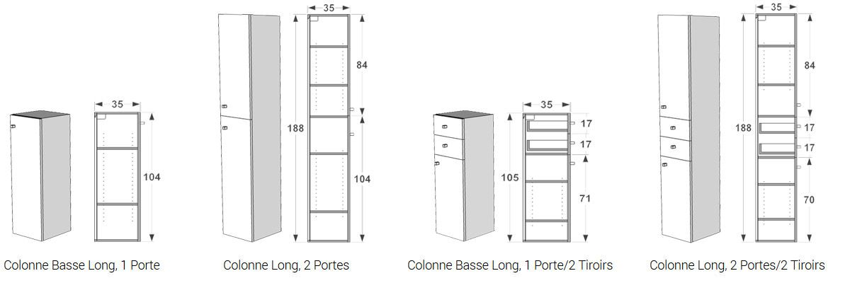 colonne et colonne basse atlantic bain. Black Bedroom Furniture Sets. Home Design Ideas