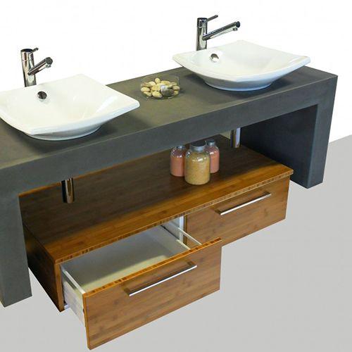 Beton cire salle de bain avis avec des for Kit beton cire salle de bain