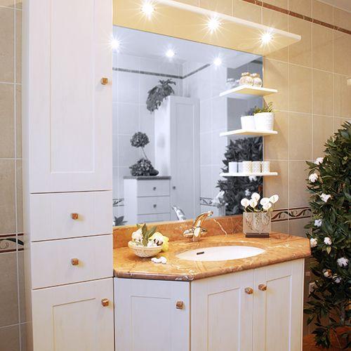 Meuble de salle de bain suspendu atlantic bain - Meuble salle de bain classique ...