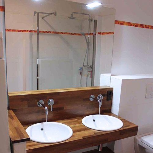 Meubles de salle de bain en bois massif zen atlantic bain - Etabli salle de bain ...
