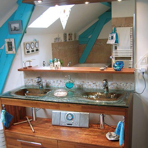meuble plan en verre avec vasque thermoform e atlantic bain. Black Bedroom Furniture Sets. Home Design Ideas