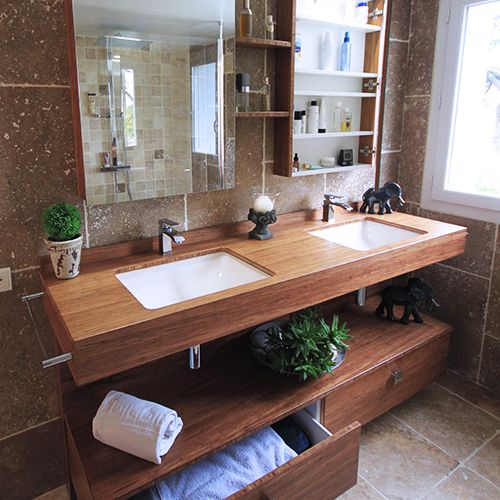 meuble salle de bain plan en bois atlantic bain. Black Bedroom Furniture Sets. Home Design Ideas
