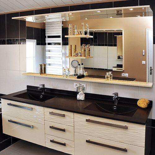 Miroir avec rangement pour salle de bain atlantic bain - Miroir salle de bain avec rangement ...