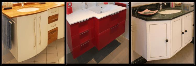 Sous vasque et sous plan atlantic bain for Salle de bain meuble sous vasque