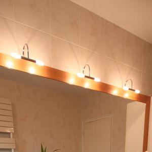 El ments de meubles atlantic bain for Luminaire salle de bain led