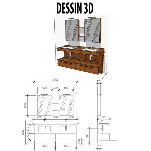 dessins 3d de meuble zen