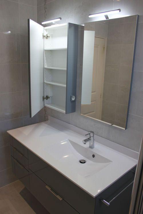 R novation d 39 une salle de bain atlantic bain - Salle de bain avec douche italienne et wc ...