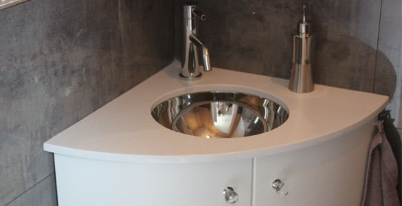 Meuble lave mains d 39 angle 50 x 50 cm atlantic bain - Meuble lavabo wc ...