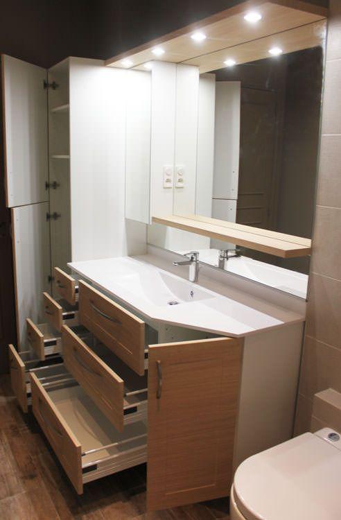 Grand meuble tv avec rangement - Grand meuble salle de bain ...