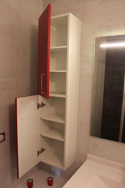 Meubles de salle de bains rouge et d cal s atlantic bain for Colonne de salle de bain rouge