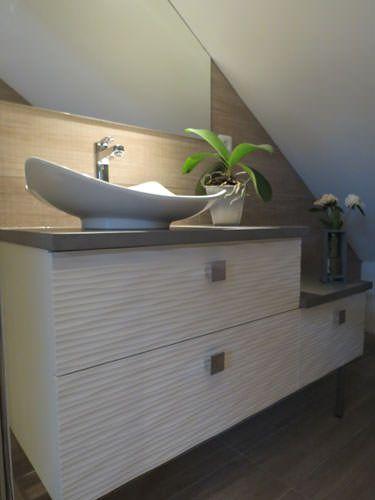 Amenagement petite salle de bain sous pente salle de bains inspiration design - Petite salle de bain sous pente ...