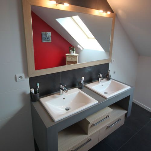 Meuble en beton cellulaire dtail tagre with meuble en - Fabriquer meuble salle de bain beton cellulaire ...