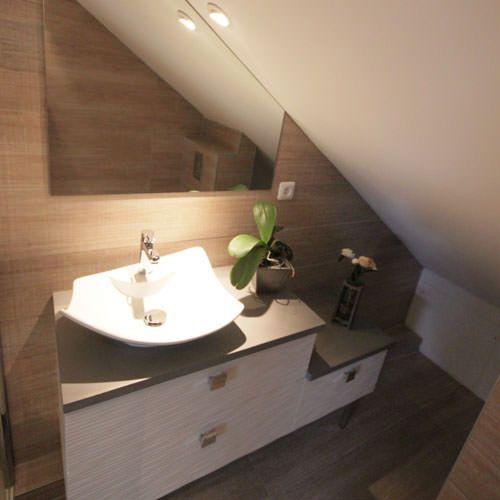 meuble de salle bain sous combles ou rampant atlantic with salle de bains combles