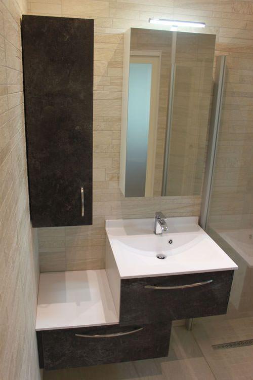 Meuble d cal de 100 cm pour une petite salle de bains atlantic bain - Meuble sanijura salle de bain ...