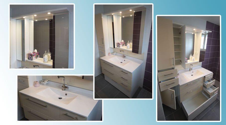 Place aux rangements et la fonctionnalit dans la salle for Porte meuble salle de bain sur mesure