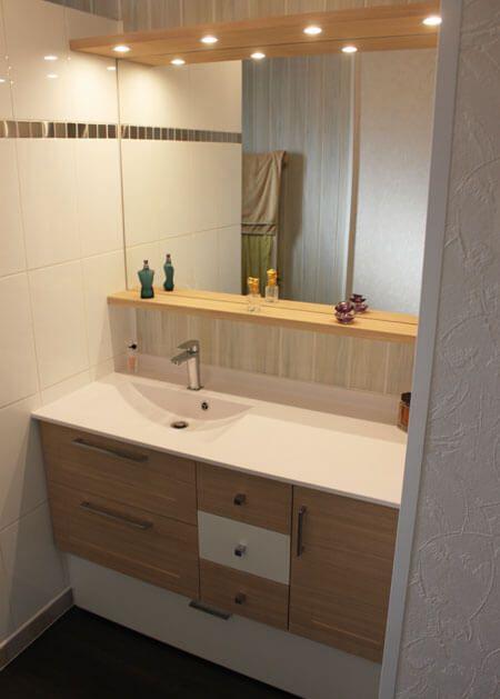 Meuble entre murs avec vasque d centr e atlantic bain - Fabriquer un meuble sous vasque ...