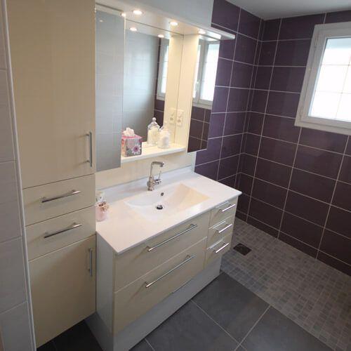 Miroir triptyque pour salle de bain atlantic bain - Meuble sur mesure salle de bain ...