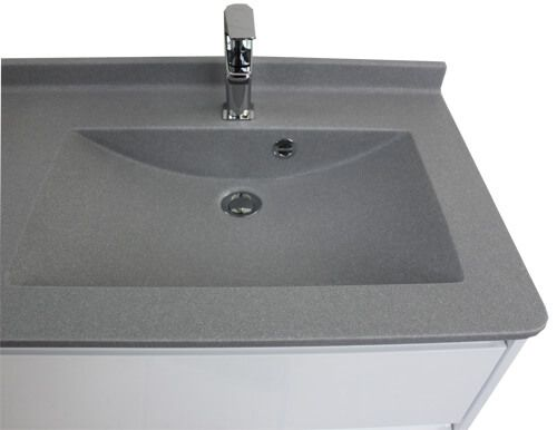 meuble salle de bain de 140 cm aux angles arrondis atlantic bain. Black Bedroom Furniture Sets. Home Design Ideas