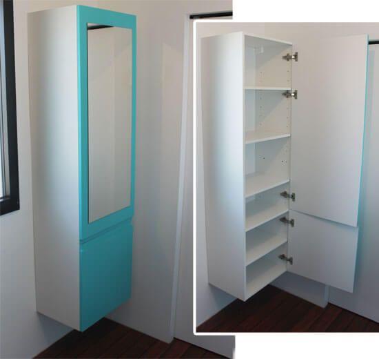 Porte meuble salle de bain sur mesure salle de bains - Miroir autocollant sur mesure ...