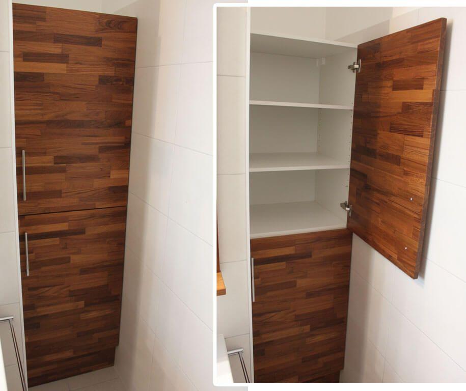 un meuble teck lamelle vernis avec un plan de toilette With porte d entrée pvc avec colonne en teck salle de bain