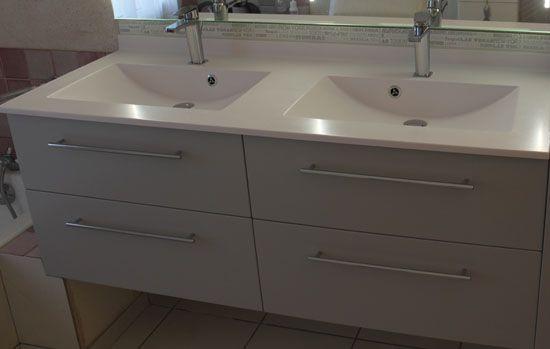 Organiseur tiroir salle de bain - Meuble salle de bain panier a linge integre ...