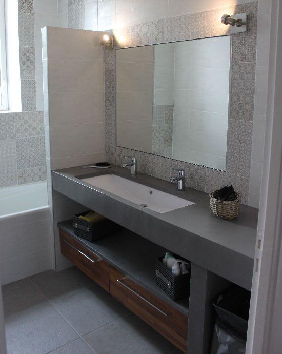 Meuble salle de bain une vasque avec deux robinets for Petit meuble salle de bain avec lavabo
