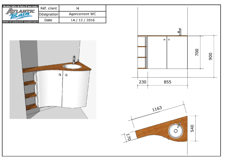 comment agencer un wc avec des angles pas droits atlantic bain. Black Bedroom Furniture Sets. Home Design Ideas