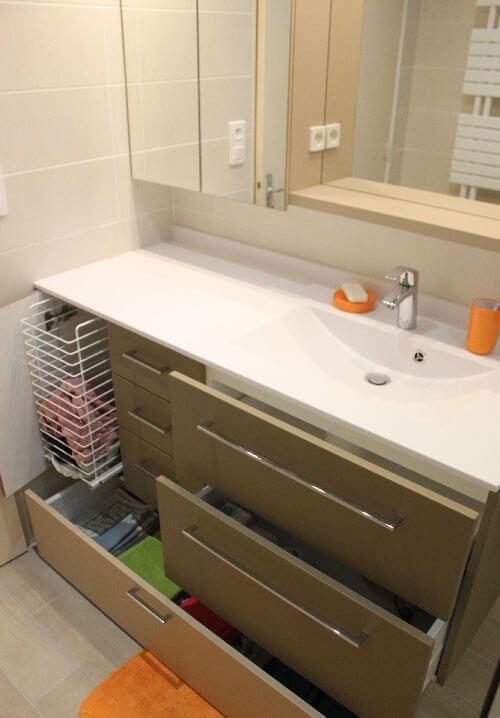 4 id es pour une salle de bains pratique et fonctionnelle for Panier rangement salle de bain