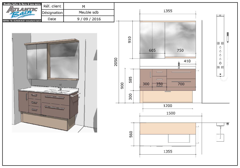 4 id es pour une salle de bains pratique et fonctionnelle - Salle de bain chocolat et blanc ...