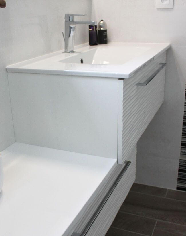 Meuble d cal en escalier pour salle de bain de moins de 3 - Escalier rangement integre ...