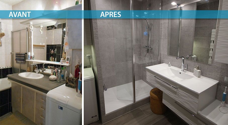 R novation de salle de bain nantes atlantic bain - Renovation avant apres ...