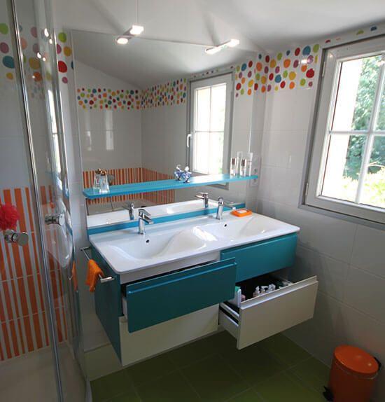 Meuble de salle de bain bleu interesting meuble salle de for Meuble salle de bain bleu