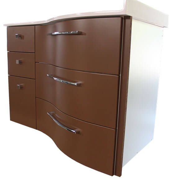 un meuble d 39 angle couleur chocolat atlantic bain. Black Bedroom Furniture Sets. Home Design Ideas