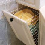 Panier à linge de salle de bain pivotant PL2