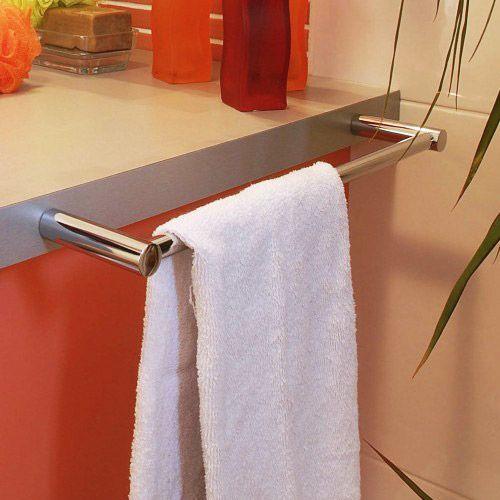 Porte serviette Alfa chromé de salle de bain mit en situation