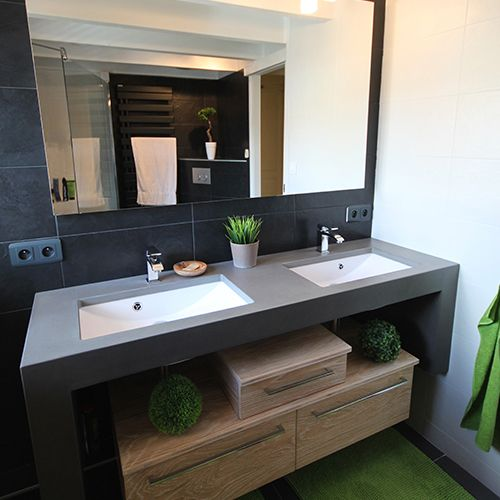 meubles de salle de bain b ton cir atlantic bain. Black Bedroom Furniture Sets. Home Design Ideas
