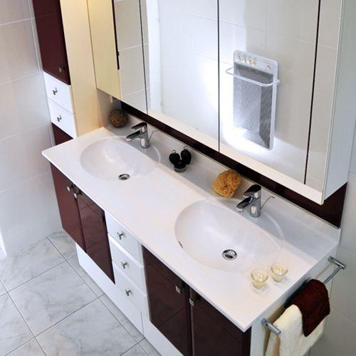 Meuble de salle de bain socle tiroir atlantic bain for Meuble salle de bain classique