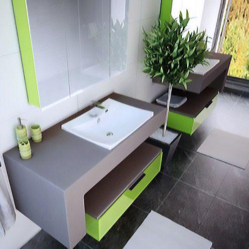 Meuble de salle de bain collection Béton ciré Mercure Atlantic Bain