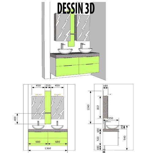 meuble contemporain en 3d