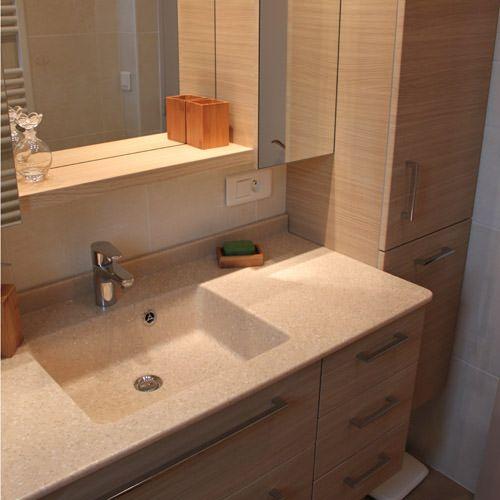 plan résine salle de bain