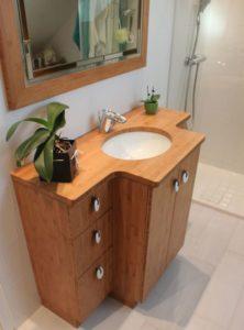 Agencement salle de bain en bambou atlantic bain for Agencement de salle de bain