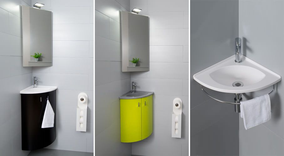 Nouvelle collection lave mains salto atlantic bain - Meuble lave main angle wc ...