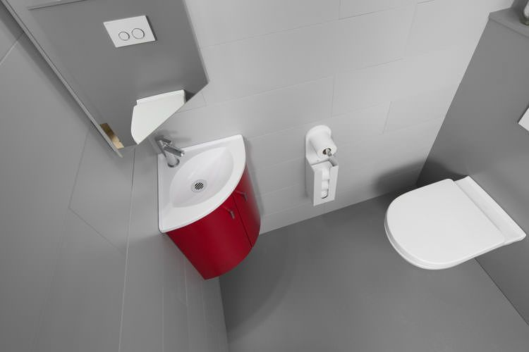 Nouvelle collection lave mains salto atlantic bain for Meuble lave main d angle wc