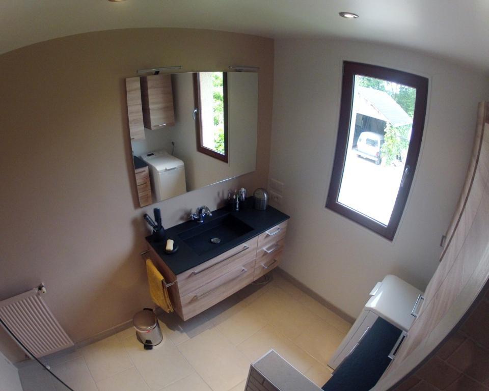 Meuble avec plan toilette r sine ardoise atlantic bain for Salle de bain 2014
