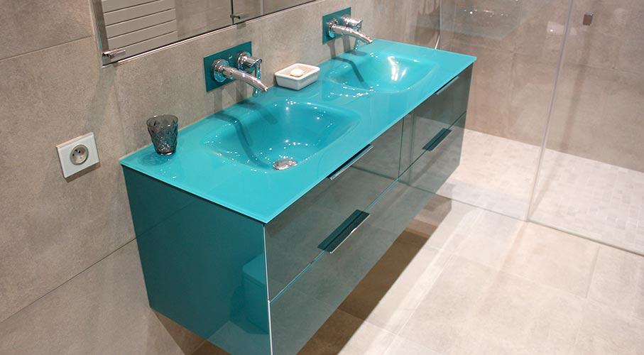7 Design De Salle De Bain Avec Meubles En Verre Atlantic Bain
