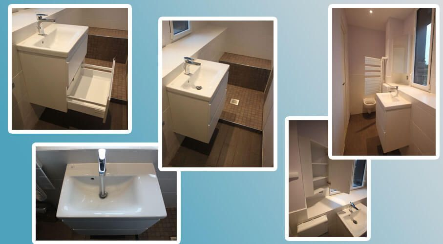 Un meuble id al pour une salle de bains troite for Wc et salle de bain