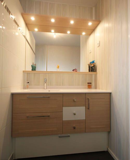Meuble entre murs avec vasque d centr e atlantic bain - Lavabo petite salle de bain ...