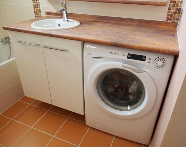 Plus simple et plus pratique le lave linge sous le meuble for Meuble machine a laver
