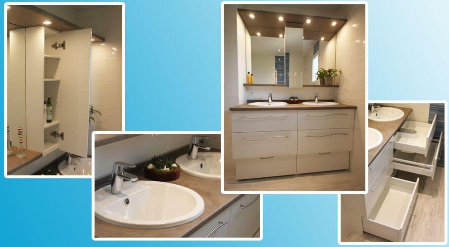 meuble de 138 cm double vasque entre murs atlantic bain. Black Bedroom Furniture Sets. Home Design Ideas